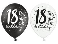 6 My 18th Birthday Luftballons 30cm