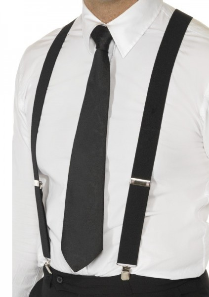 Chic suspenders black