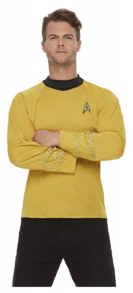 Star Trek uniform shirt voor heren geel