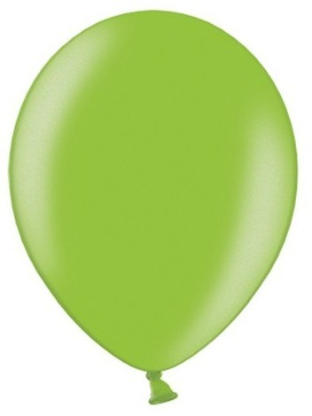 10 party star metallic balloons apple green 27cm