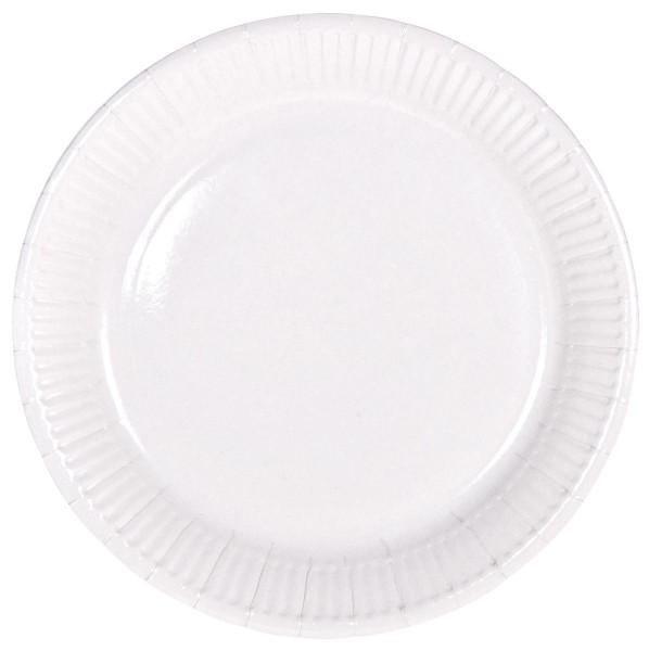 8 plates Cleo white 23cm