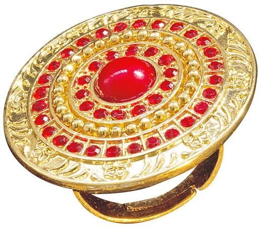 Antieke gouden ring met stenen