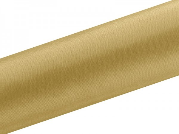 Tela satinada Eloise oro 9m x 16cm