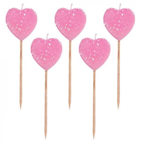Selector de fiestas de 6 corazones de mica de 3 pulgadas