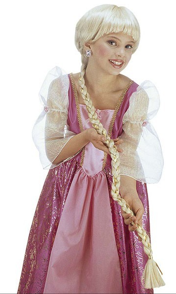 Prinses Rapunzel vlecht pruik voor kinderen