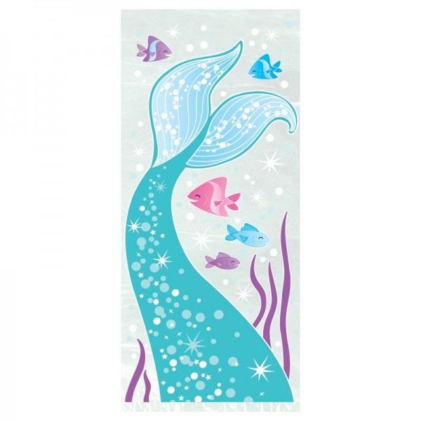 20 sachets cadeaux Magical Mermaid Sirena 13 x 28 cm