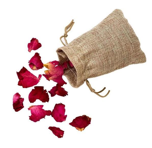 Rosenblüten Streudeko im Beutel