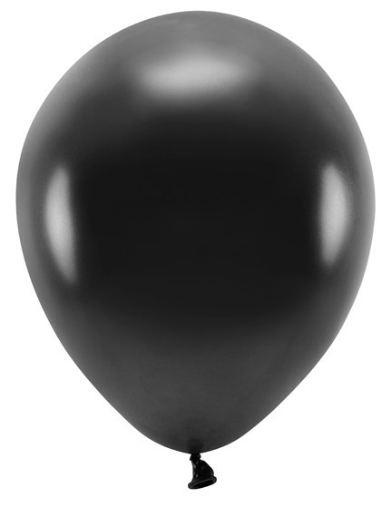 100 Eco metallic Ballons schwarz 30cm