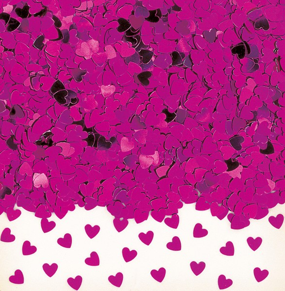 Liebesglück heart sprinkle decoration pink metallic 14g