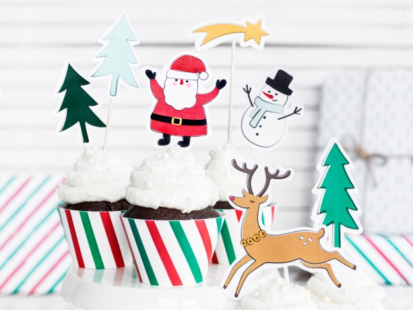 Decoración para pasteles Little Christmas 7 unidades