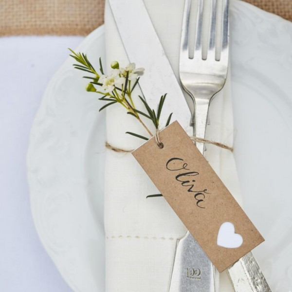 8 Landliebe wedding place card pendants