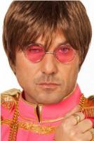 Wilde 70er Hippie Brille Pink