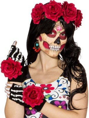 Day of the Dead Rose-accessoires Set van 3 stuks