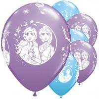 25 Frozen Luftballons Nordwind 28cm