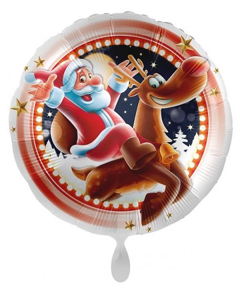 Ballon en aluminium Happy Santa Christmas 45cm