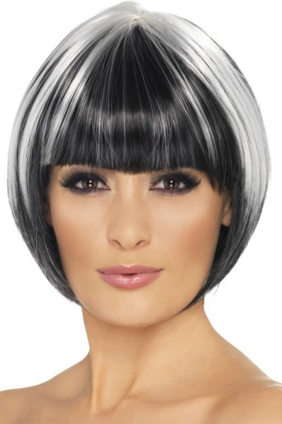 Bob wig Elena black and white