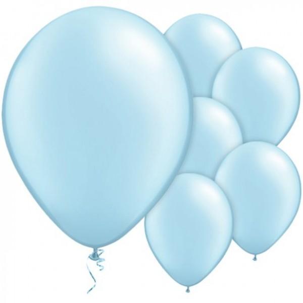 25 Eisblaue Luftballons Passion 28cm