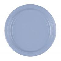 8 Pappteller pastellblau 23cm