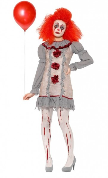 Shabby horror clown dames kostuum