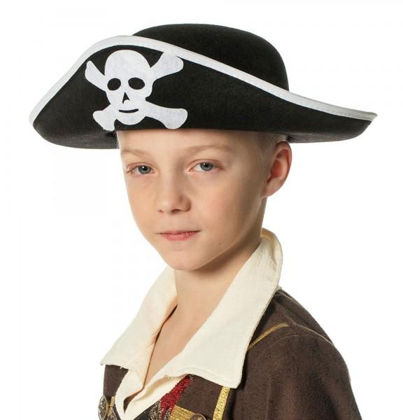 Klassischer Kinder Piratenhut