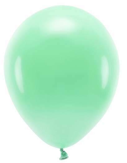 100 eco pastel balloons mint green 26cm