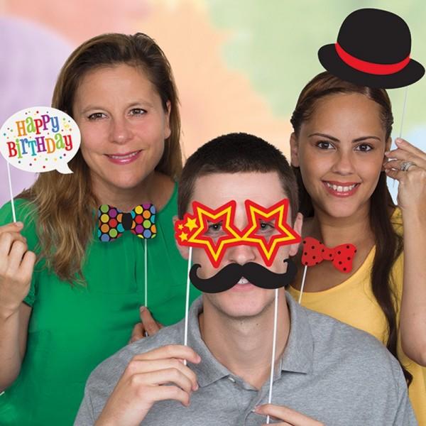 Colourful Rainbow Party Foto Requisiten 10-Teilig