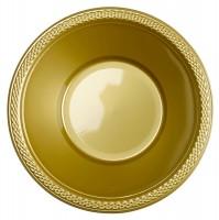 20 Kunststoff-Schüsseln Gold 355ml