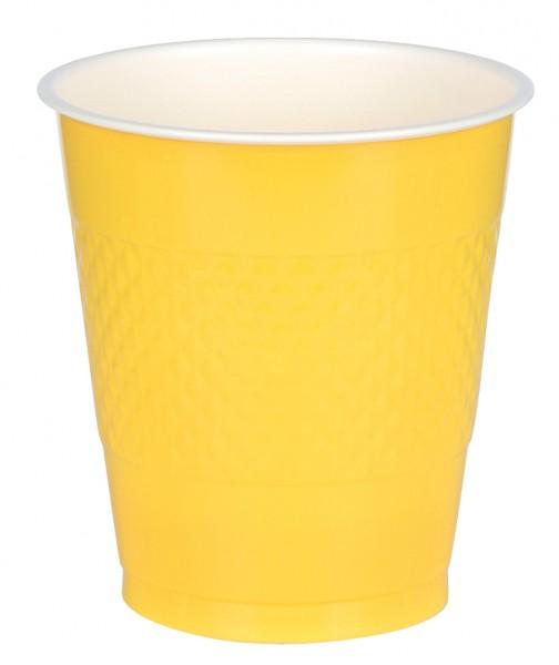 10 party buffet cups sun yellow 355ml