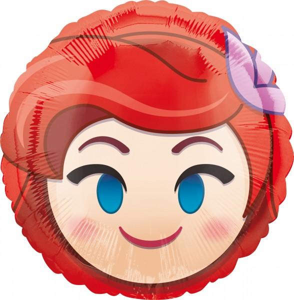 Emoji Folienballon Prinzessin Arielle