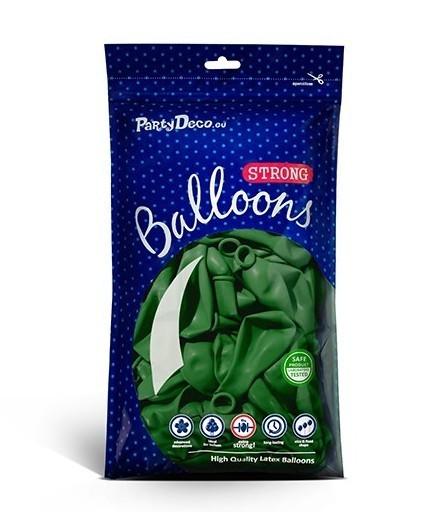 100 balonów gwiazdkowych jodła zielony 12 cm