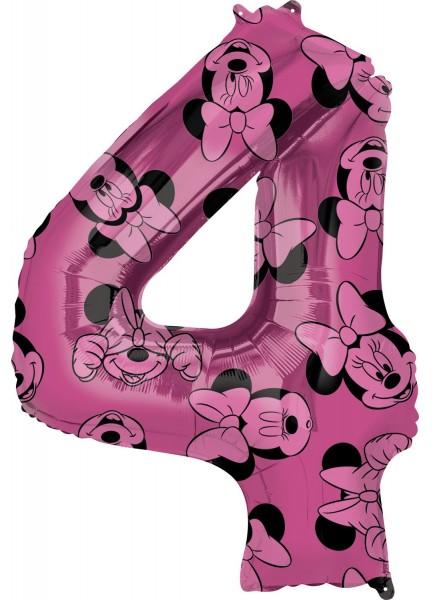 Minnie Mouse Zahl 4 Ballon 66cm