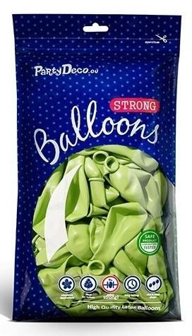 100 metalowych balonów na imprezę może zielony 12 cm