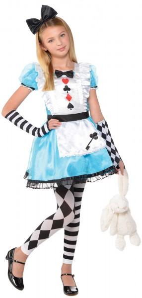 Alice im Wunderland Mädchenkostüm