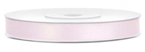 Cinta de raso de 25 m, rosa empolvado de 6 mm de ancho