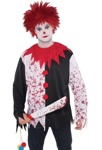 Blutiges Horror Clown Herren Shirt