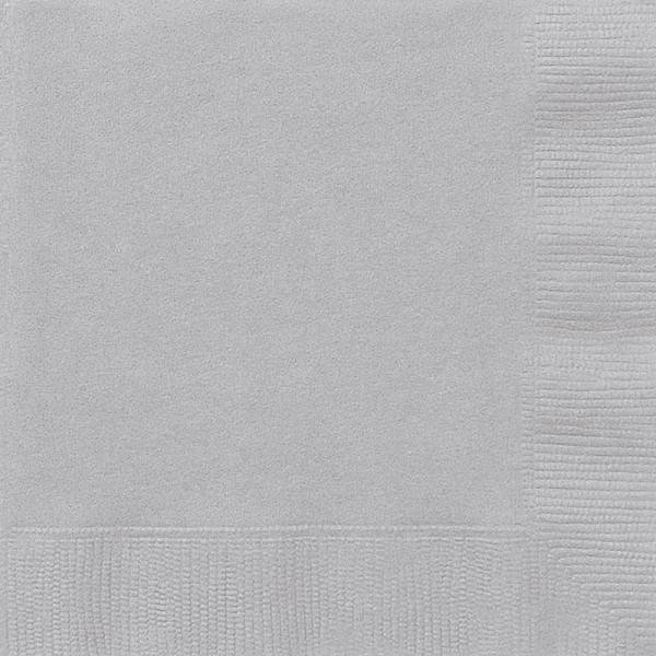 20 serviettes Vera argent 33cm