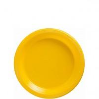 20 Gelbe Kunststoff Teller 17cm
