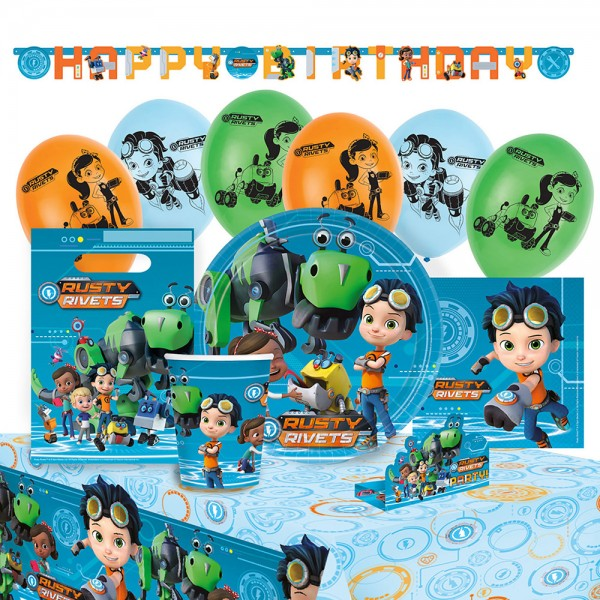 Party Set Rusty Rivets 56-teilig