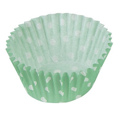 Dots fun green muffin molds 25 pack
