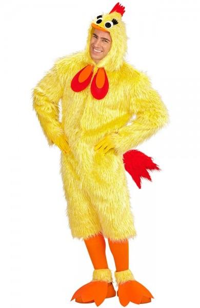 Déguisement poulet jaune unisexe adulte