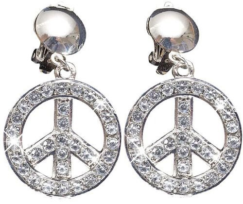 Peace Hippie Glitzer Ohrringe 1