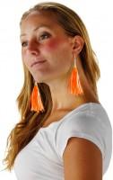 Neonparty Fransen Ohrringe Orange