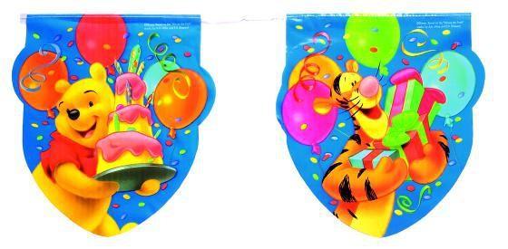 Birthday Winnie Puuh Wimpelkette 3,3m