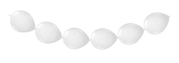 White balloon garland 3m