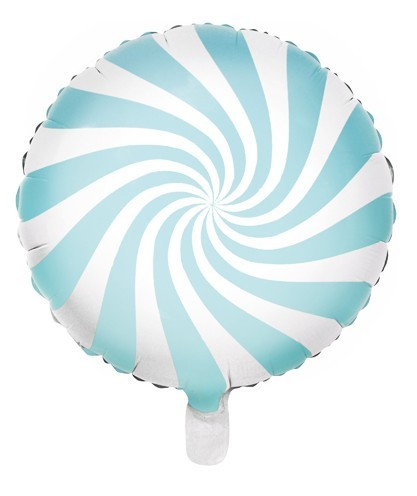 Candy Party foil balloon pastel blue 45cm