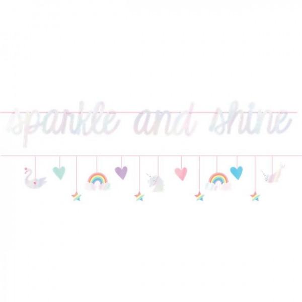 2 Fairy Rainbow Girlanden 3,7m