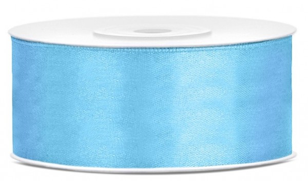 25m gift ribbon sky blue 25mm wide
