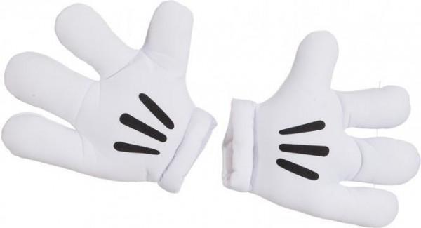 Weiße Jumbo Maus Handschuhe