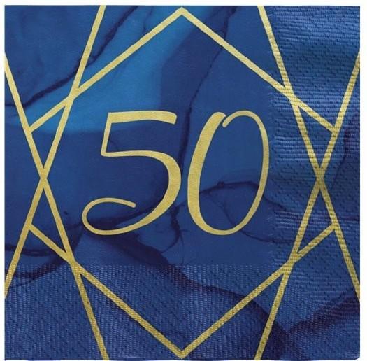16 Luxurious 50th Birthday Servietten 33cm