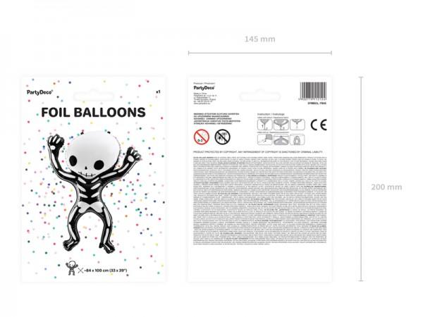 Boo Town Skelett Folienballon 84cm x 1m 6